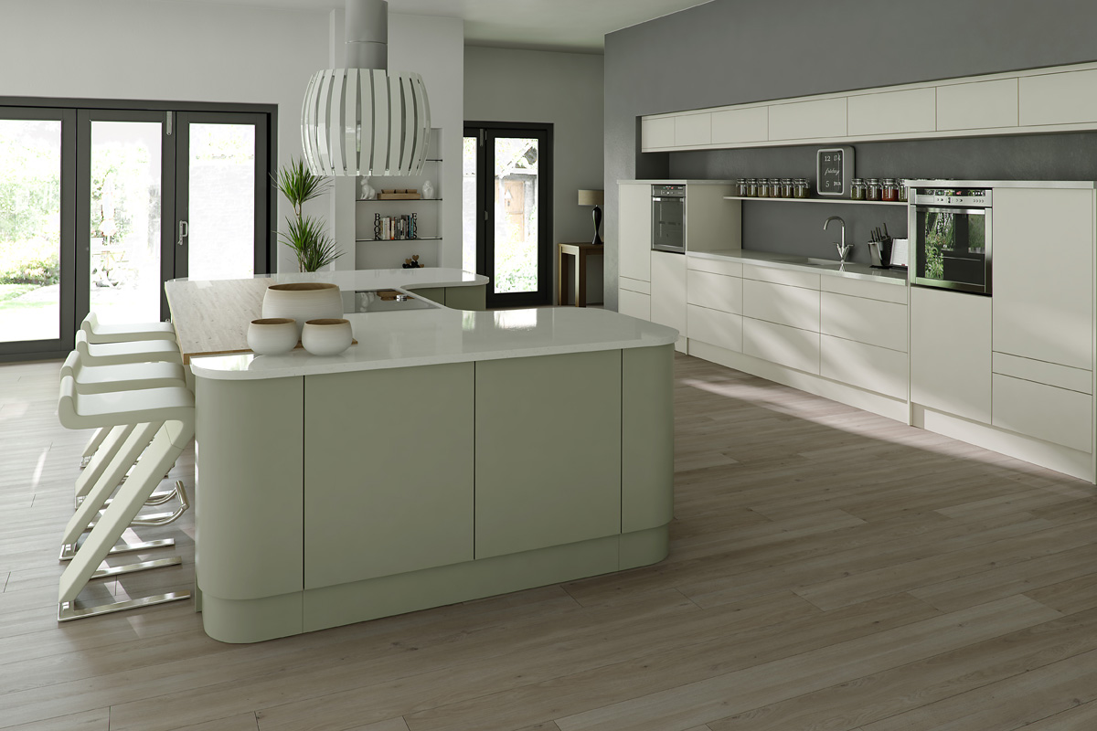 LINEAR PAINTED IVORY SAGE GREY