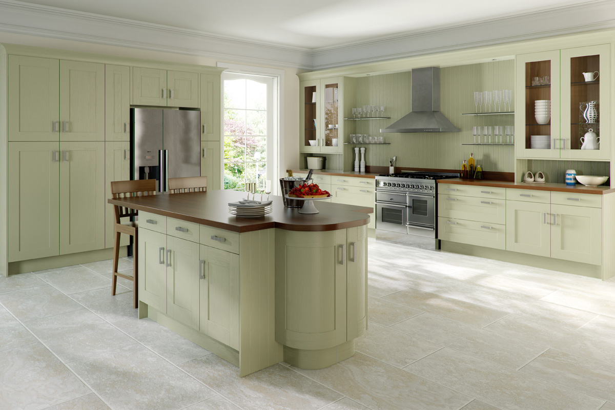 PAINTED GREEN TIMBER SHAKER